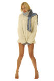 Vrouw met naakte benen. Stock Afbeeldingen