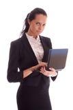 Vrouw met notitieboekje Royalty-vrije Stock Afbeeldingen
