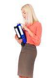 Vrouw met omslagen Stock Afbeeldingen