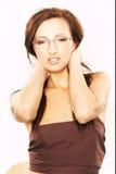Vrouw met Oogglazen stock foto
