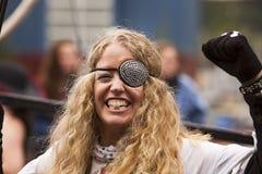 Vrouw met Ooglap Royalty-vrije Stock Foto's