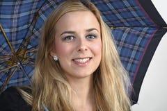 Vrouw met paraplu Royalty-vrije Stock Afbeelding