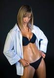 Vrouw met perfect lichaam royalty-vrije stock foto's