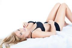 Vrouw met perfect lichaam Royalty-vrije Stock Afbeelding