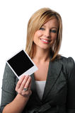 Vrouw met Polaroidcamera Stock Foto