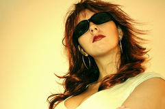 Vrouw met rood haar stock foto's