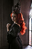 Vrouw met rood haar Royalty-vrije Stock Foto's