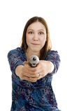 Vrouw met schroevedraaier Stock Fotografie