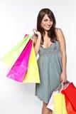Vrouw met shoppingbag Royalty-vrije Stock Foto