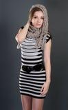 Vrouw met sjaal Royalty-vrije Stock Afbeelding