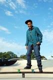 Vrouw met Skateboard 8 Royalty-vrije Stock Fotografie