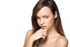 Vrouw met sterke blik Royalty-vrije Stock Afbeeldingen