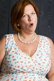 Vrouw met suprice royalty-vrije stock fotografie