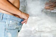 Vrouw met topless jeans Royalty-vrije Stock Fotografie