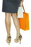 Vrouw met twee het winkelen zakken Royalty-vrije Stock Fotografie