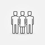 Vrouw met twee mannen pictogram Royalty-vrije Stock Afbeeldingen