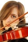 Vrouw met viool 005 Royalty-vrije Stock Foto's