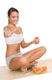 Vrouw met vruchten stock fotografie
