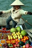 Vrouw met vruchten Royalty-vrije Stock Foto's