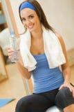 Vrouw met water stock foto's