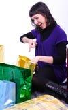 Vrouw met zakken royalty-vrije stock foto's