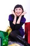 Vrouw met zakken royalty-vrije stock fotografie