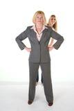 Vrouw met zeer Kleine Commercieel Team Stock Foto