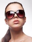 Vrouw met zonnebril Royalty-vrije Stock Foto