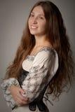 Vrouw in middeleeuws ondergoed Royalty-vrije Stock Foto's