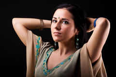 Vrouw in nationale kleding royalty-vrije stock foto's