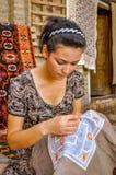 Vrouw in Oezbekistan royalty-vrije stock foto's