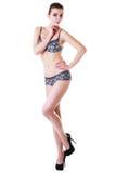 Vrouw in ondergoed Stock Foto's
