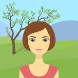 Vrouw op aard Stock Fotografie