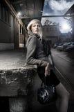 vrouw op de straat Stock Foto