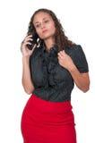 Vrouw op de Telefoon Stock Afbeeldingen