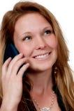 Vrouw op de Telefoon Royalty-vrije Stock Afbeeldingen