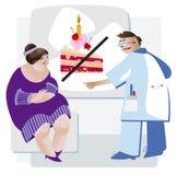 Vrouw op een dieet Stock Afbeelding