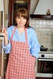 Vrouw op een keuken Royalty-vrije Stock Fotografie