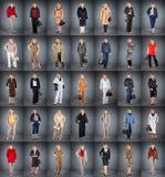 Vrouw op een rijpe leeftijd in verschillende kleren Stock Fotografie