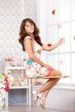 Vrouw op een schommeling Royalty-vrije Stock Foto