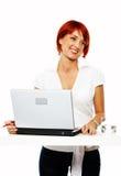 Vrouw op het werk Royalty-vrije Stock Fotografie