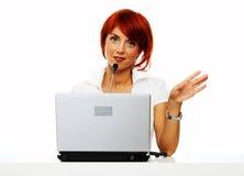 Vrouw op het werk Royalty-vrije Stock Foto