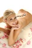 Vrouw op massage Royalty-vrije Stock Foto