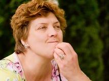 Vrouw op middelbare leeftijd Stock Foto's