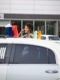 Vrouw op mobiele telefoon Royalty-vrije Stock Foto
