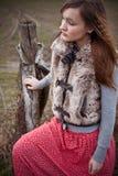 Vrouw op plattelandsgebied Stock Fotografie