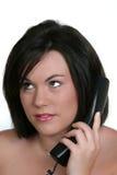 Vrouw op Telefoon Stock Afbeelding