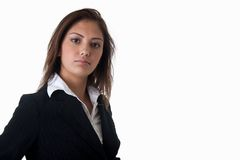 Vrouw op wit stock afbeeldingen