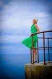 Vrouw op zee Stock Fotografie