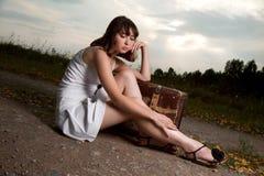 Vrouw openlucht Royalty-vrije Stock Afbeeldingen